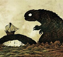 Leviathan & Ship by djrbennett