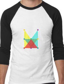 'Symmetrical' Rectangle  Men's Baseball ¾ T-Shirt