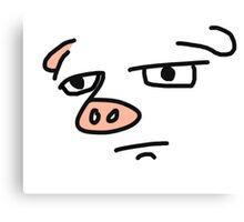 Serious Pig Canvas Print