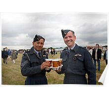 Men in RAF uniform with their beer at  Biggin Hill Air Festival 2014 Poster
