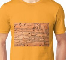 Brown cork material texture Unisex T-Shirt