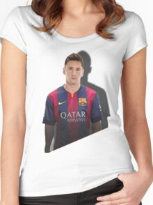 lionel messi Women's Fitted Scoop T-Shirt