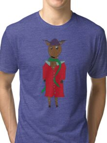 Diego the Deer in Winter Tri-blend T-Shirt