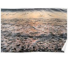 Bubbles in Motion - Whimsical Patterns in the Surf at Sunrise Poster