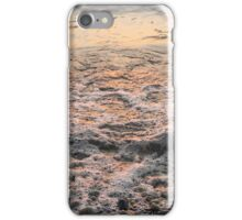 Bubbles in Motion - Whimsical Patterns in the Surf at Sunrise iPhone Case/Skin