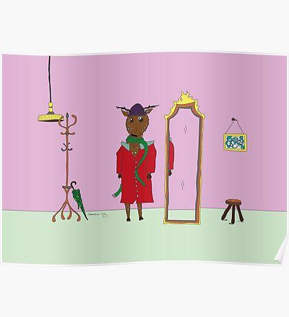 Diego the Deer in Winter Poster