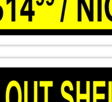 Fallout Shelter Sign with Price (left & right) Sticker