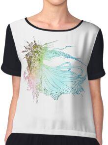 °FINAL FANTASY° Final Fantasy XV Rainbow Logo Chiffon Top