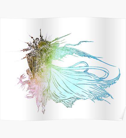 °FINAL FANTASY° Final Fantasy XV Rainbow Logo Poster