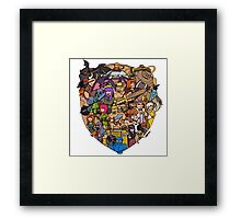 Clash of clans family Framed Print