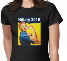nasty strong woman hillary Womens Fitted T-Shirt