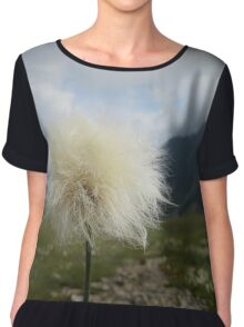 Beautiful nature mountains flowers Chiffon Top