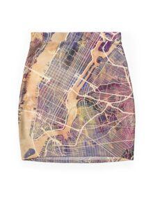 New York City Street Map Mini Skirt
