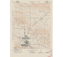 USGS TOPO Map California CA Buena Vista Hills 302522 1944 31680 geo Photographic Print