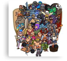 Clash royale and of clans family Canvas Print