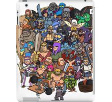 Clash royale and of clans family iPad Case/Skin