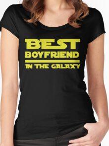 Best Boyfriend in the Galaxy Women's Fitted Scoop T-Shirt