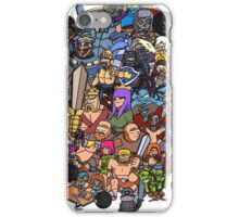 Clash royale and of clans family iPhone Case/Skin