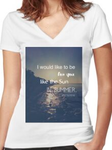 Like the sun in summer Women's Fitted V-Neck T-Shirt