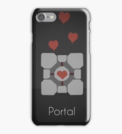 Portal minimalist poster iPhone Case/Skin