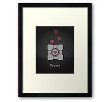 Portal minimalist poster Framed Print