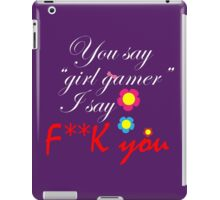 Call me a gamer iPad Case/Skin
