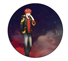low poly 707 mystic messenger Photographic Print