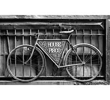 House of Pisco - Bike Photographic Print
