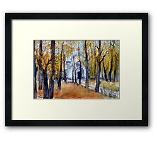 Autumn in Moscow, Russia Framed Print