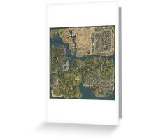 Grand Theft Auto San Andreas Aerial Map Greeting Card