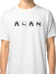 ALAN Vintage Bicycle Logo - ALAN black horizontal Classic T-Shirt
