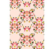 Abstract geometric pattern pink Photographic Print