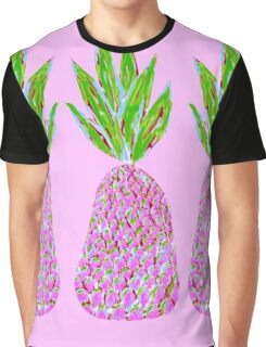 Pineapple Crush on pale pink Graphic T-Shirt