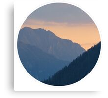 Beautiful nature mountains sunset circle Canvas Print