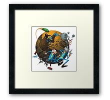 Rick And Morty Fallout Framed Print