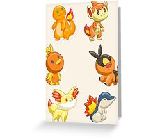 Pokemon Starters - Fire Types Greeting Card