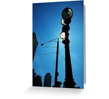 Sunlight Street Lamp Greeting Card