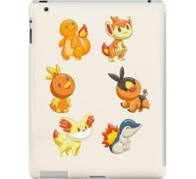 Pokemon Starters - Fire Types iPad Case/Skin