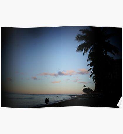 A Waikiki Beach Sunrise Poster