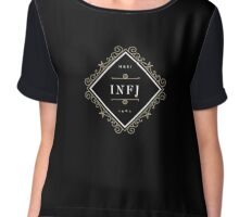 INFJ Ornamental Insignia (dark) Chiffon Top