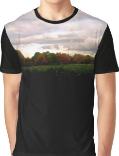 Autumn Sunset and Trees Graphic T-Shirt
