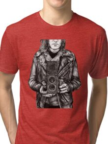 Leather Twin Lens Tri-blend T-Shirt