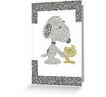 Snoopy & Woodstock Greeting Card