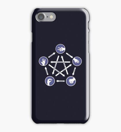 Paper-scissors-rock-lizard-spock! iPhone Case/Skin