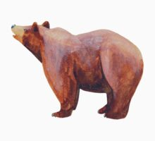 brown bear (looking up) One Piece - Short Sleeve