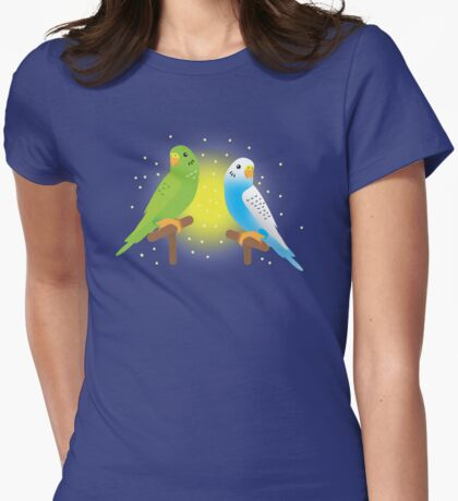Two budgies Womens Fitted T-Shirt