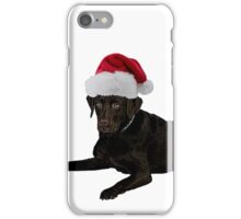 Black Lab Santa Claus Merry Christmas iPhone Case/Skin