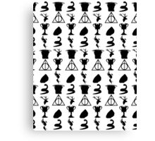Harry Potter Book Collection Symbols Canvas Print