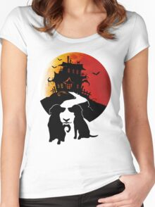 Haunted House Women's Fitted Scoop T-Shirt