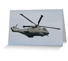 Royal Navy Merlin Helicopter Greeting Card